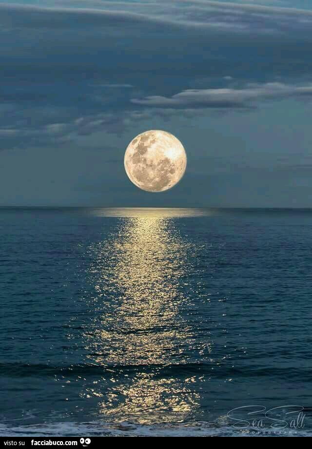 Luna Enorme Sul Mare Facciabucocom