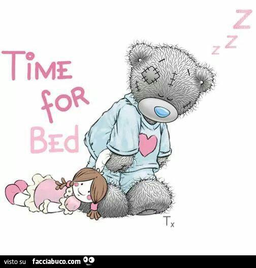 Orsetto Assonnato Trascina La Bambola Time For Bed