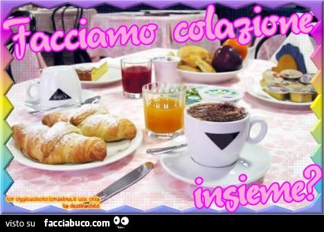 Facciamo colazione insieme for Buongiorno con colazione