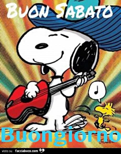 Snoopy buon sabato buongiorno for Buon sabato sera frasi